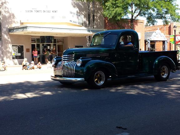 Shiny restored truck - make unknown