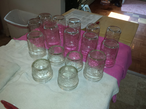 Clean jars, ready for jelly!