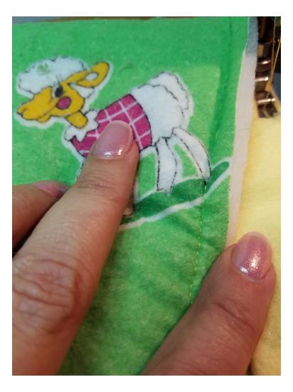 Baby quilt stitching